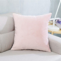PALE PINK BABY POWDER PINK SOFT VELVET  CUSHION COVER £6.59 EACH MADE IN THE UK